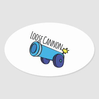 Loose Cannon Oval Sticker