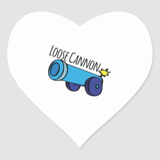 Loose Cannon Heart Stickers