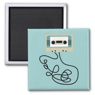 Loose Cassette Tape Loops 2 Inch Square Magnet