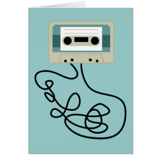 Loose Cassette Tape Loops Greeting Card
