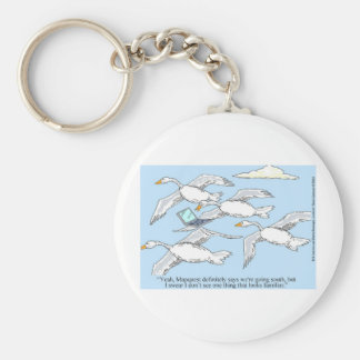 Loose Goose Using Mapquest Funny Gifts & Tees Keychain