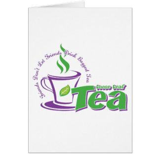 Loose Leaf Tea Card