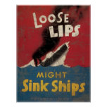 Loose Lips Might Sink Ships Poster