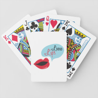 Loose Lips Bicycle Playing Cards
