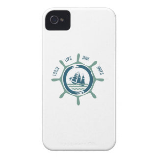Loose Lips Sink Ships iPhone 4 Covers
