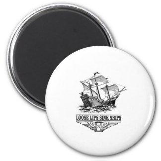 loose lips sink ships magnet