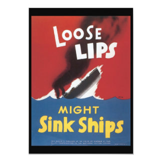 Loose Lips Sink Ships World War 2 Card