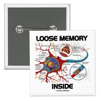 Loose Memory Inside (Neuron / Synapse) Pinback Button