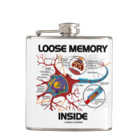 Loose Memory Inside Neuron Synapse Geek Humor Hip Flasks