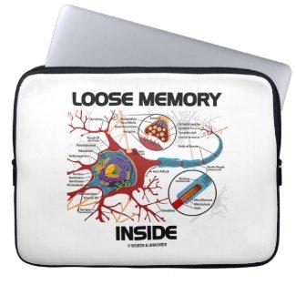 Loose Memory Inside Neuron Synapse Geek Humor Laptop Computer Sleeve