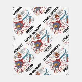 Loose Memory Inside Neuron Synapse Geek Humor Fleece Blanket