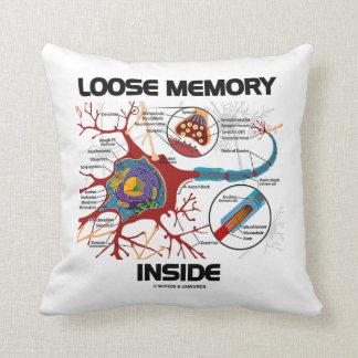 Loose Memory Inside Neuron Synapse Geek Humor Throw Pillow