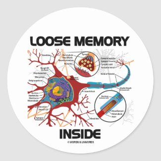 Loose Memory Inside (Neuron / Synapse) Round Sticker