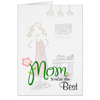 Loose Mom in Kitchen with Floral Mom & Custom Text