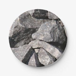 Loose Rough Granite Rock Paper Plates 7 Inch Paper Plate