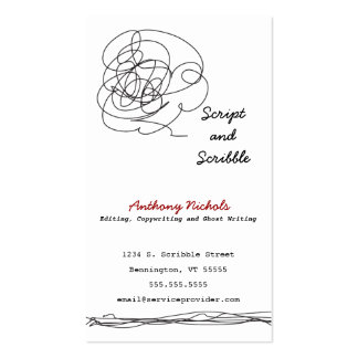 Loose Scribble Art Business Card