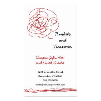 Loose Scribble Art Business Card 4