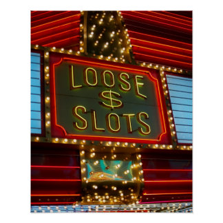 Loose slots sign on casino, Las Vegas, Nevada