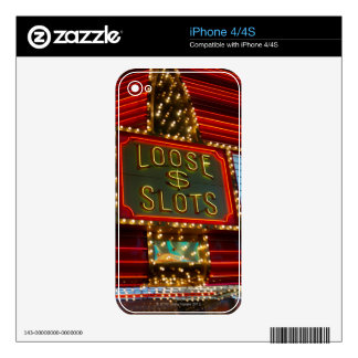 Loose slots sign on casino, Las Vegas, Nevada Decal For The iPhone 4S