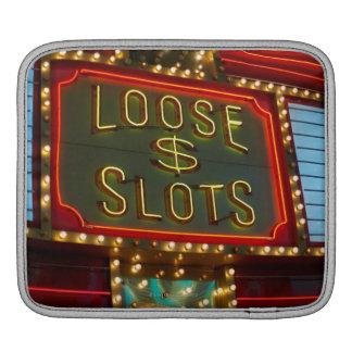 Loose slots sign on casino, Las Vegas, Nevada iPad Sleeve