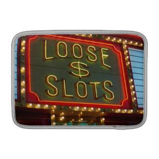 Loose slots sign on casino, Las Vegas, Nevada MacBook Sleeve