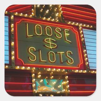 Loose slots sign on casino, Las Vegas, Nevada Square Sticker