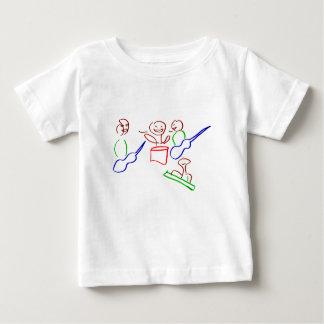 Loose stick figure musician band baby T-Shirt