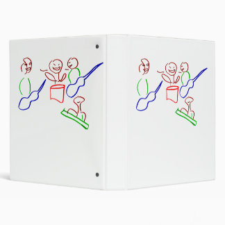Loose stick figure musician band binders