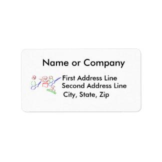 Loose stick figure musician band custom address labels
