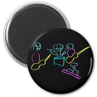 Loose stick figures black background magnets