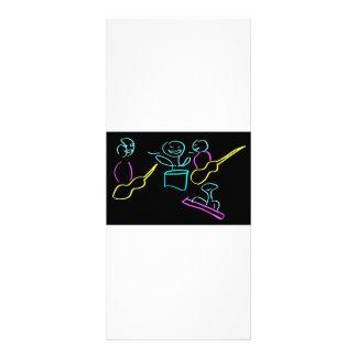 Loose stick figures black background rack cards