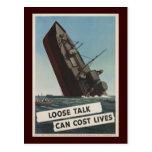 Loose talk can cost l postcard