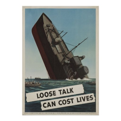 Loose Talk Can Cost L Poster
