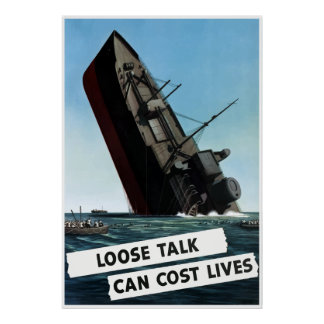 Loose Talk Can Cost Lives -- Border Poster