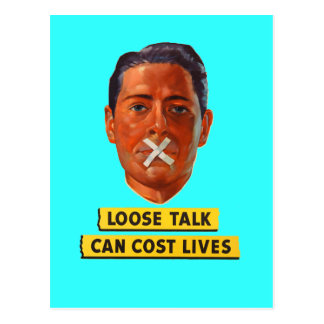 Loose Talk Can Cost Lives Post Cards