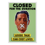 Loose Talk Can Cost Lives Posters
