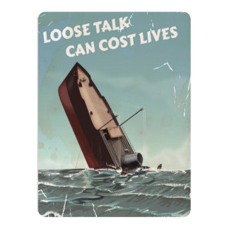 Loose Talk Cost Lives WW2 Poster Card