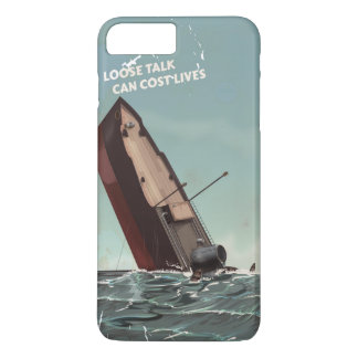 Loose Talk Cost Lives WW2 Poster iPhone 8 Plus/7 Plus Case