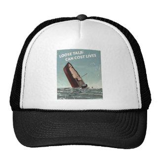 Loose Talk Cost Lives WW2 Poster Trucker Hat