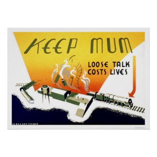 Loose Talk Costs Lives 1943 WPA Poster