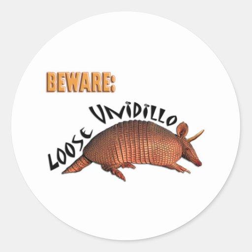 Loose Unidillo Classic Round Sticker