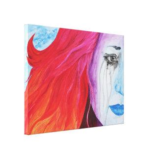 Loosing Color Surreal Original Art Canvas Print