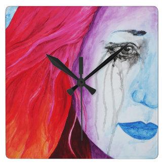 Loosing Color Surreal Original Art Clock