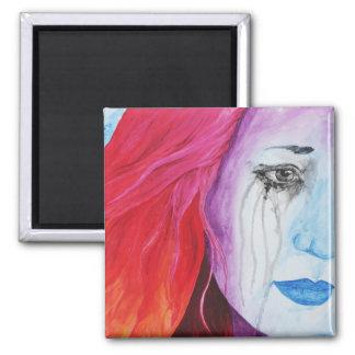 Loosing Color Surreal Original Art Magnet