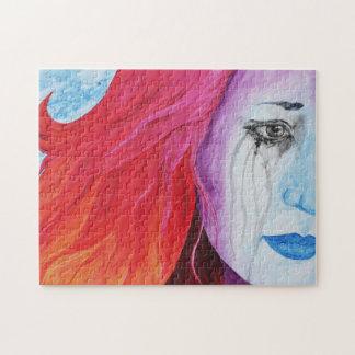 Loosing Color Surreal Original Art Puzzle