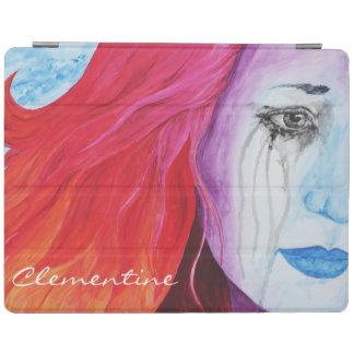 Loosing Color Surreal Rainbow Woman Original Art iPad Smart Cover