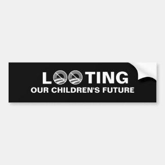 Looting Children - Obama Bumper Sticker