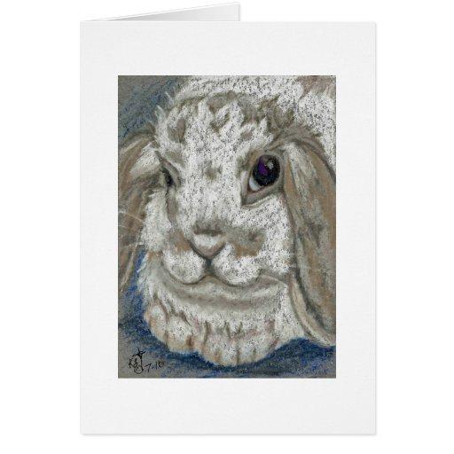 Lop Bunny Rabbit Card
