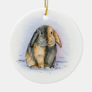 LOP Double-Sided CERAMIC ROUND CHRISTMAS ORNAMENT