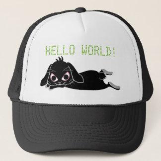 Lop ear black rabbit trucker hat